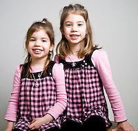 WATERBURY, CT - 20 DECEMBER 2009 -122109JT02--.Haley Berger, 3, of Torrington, would like a Dora the Explorer Train and her sister Marissa, 5, wants a Nintendo DS game for Christmas..Josalee Thrift Republican-American