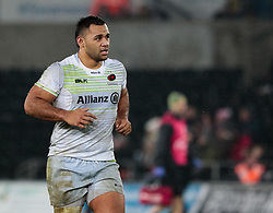 Saracens' Billy Vunipola<br /> <br /> Photographer Simon King/Replay Images<br /> <br /> European Rugby Champions Cup Round 5 - Ospreys v Saracens - Saturday 13th January 2018 - Liberty Stadium - Swansea<br /> <br /> World Copyright © Replay Images . All rights reserved. info@replayimages.co.uk - http://replayimages.co.uk