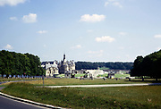 Château de Chantilly, historic castle at Chantilly, France 1974