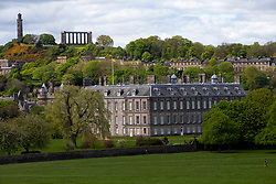 The Palace of Holyroodhouse from Holyrood Park earlier this afternoon.