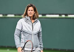 March 10, 2019 - Palm Desert, California, Usa - Tennis : BNP Paribas Open 2019 -  Amelie Mauresmo - France (Credit Image: © Panoramic via ZUMA Press)