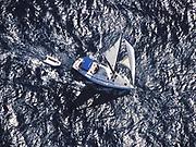 Yacht under sail, Carlisle Bay, Barbados