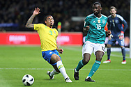 Gabriel Jesus (Brazil) and Antonio Rudiger (Germany) during the International Friendly Game football match between Germany and Brazil on march 27, 2018 at Olympic stadium in Berlin, Germany - Photo Laurent Lairys / ProSportsImages / DPPI