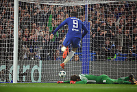 Football - 2017 / 2018 UEFA Champions League - Group C: Chelsea vs. A.S. Roma<br /> <br /> Alvaro Morata of chelsea follows in Marcos Alonso's equalising goal (3 - 3) at Stamford Bridge.<br /> <br /> COLORSPORT/ANDREW COWIE