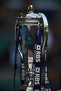 """Twickenham. Great Britain.<br /> """"The Six nations Championship Trophy"""".<br /> RBS Six Nations Rugby, England vs Wales at the RFU Twickenham Stadium. England.<br /> <br /> Saturday  12/03/2016 <br /> <br /> [Mandatory Credit; Peter Spurrier/Intersport-images]"""