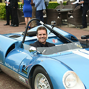Johnny Mowlem Driving demonstrations at The Motor Sport Hall of Fame will return to the spectacular Royal Automobile Club at Woodcote Park, Surrey, London, UK. 4 June 2018.