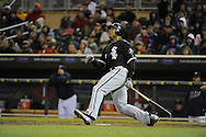 MINNEAPOLIS - MAY 11:  Andruw Jones #25 of the Chicago White Sox bats against the Minnesota Twins on May 11, 2010 at Target Field in Minneapolis, Minnesota.  The White Sox defeated the Twins 5-2.  (Photo by Ron Vesely)