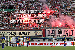 23.07.2015, Stadion Poljud, Split, CRO, UEFA EL, HNK Hajduk Split vs FC Luka Koper, Qualifikation, 2. Runde, Rückspiel, im Bild Torcida // during the UEFA Europa League Qualifier, Second round, second Leg match between HNK Hajduk Split and FC Luka Koper at the Stadion Poljud in Split, Croatia on 2015/07/23. EXPA Pictures © 2015, PhotoCredit: EXPA/ Pixsell/ Miranda Cikotic<br /> <br /> *****ATTENTION - for AUT, SLO, SUI, SWE, ITA, FRA only*****
