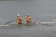 Amsterdam, HOLLAND,AUS W2- at the start,  Bow Kim CROW and Sarah COOK, at the 2007 FISA World Cup Rd 2 at the Bosbaan Regatta Rowing Course. 23.06.2007[Mandatory Credit: Peter Spurrier/Intersport-images] , Rowing Course: Bosbaan Rowing Course, Amsterdam, NETHERLANDS