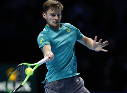 2017?11?19?.    ?????1???——???????ATP???????.       11?19?????????.       ???????????ATP????????????????????????????2?1???????????????.       ????????.(SP) BRITAIN-LONDON-TENNIS-ATP FINALS-FINAL-DIMITROV VS GOFFIN.(171119) -- LONDON, Nov. 19, 2017  David Goffin of Belgium competes during the singles final against Grigor Dimitrov of Bulgaria at the Nitto ATP World Tour Finals at O2 Arena in London, Britain on Nov. 19, 2017. Dimitrov claimed the title by winning 2-1. (Credit Image: © Han Yan/Xinhua via ZUMA Wire)