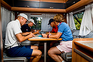 20-07-2019 Pictures of the final day of the Zwitserleven Dutch Junior Open at the Toxandria Golf Club in The Netherlands.<br /> KOUWENAAR, Koen checking cards