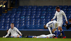 Birmingham City's  Ryan Stirk, (left) dejected after conceding their second goal