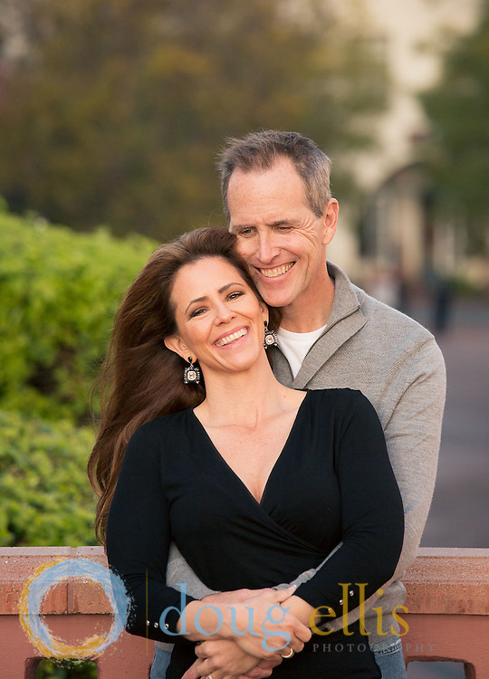 Engagement photos and wedding announcement pictures by a professional engagement photographer in Santa Barbara.