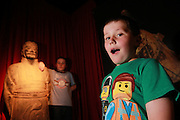 NO FEE PICTURES<br /> 3/7/14 Lule Duffy (left), age 11, Armagh and brother Sam, age 8 at the grand opening of Terracotta Warriors (The Terracotta army of the first Emporer of China), at the Ambassador Theatre, open from the 4th July. in Dublin.Tickets on sale from Ticketmaster and venue box office. Picture: Arthur Carron