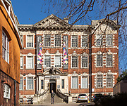 Historic architecture of Phoenix arts centre building in Gandy Street, Exeter, Devon, England, UK