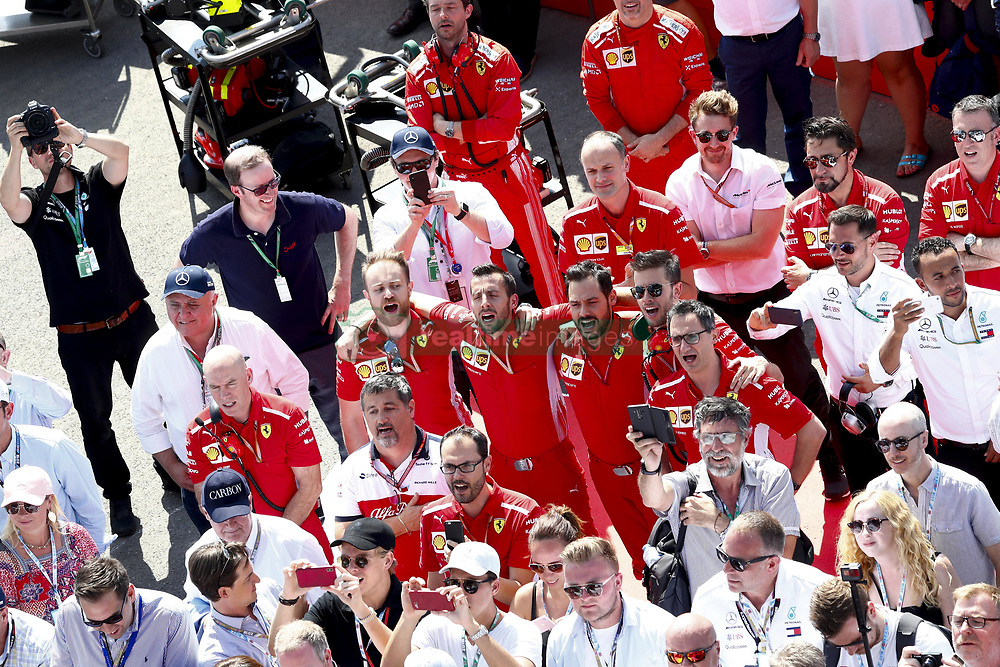 July 8, 2018 - Silverstone, Great Britain - Motorsports: FIA Formula One World Championship 2018, Grand Prix of Great Britain, .Mechanicians of Scuderia Ferrari  (Credit Image: © Hoch Zwei via ZUMA Wire)