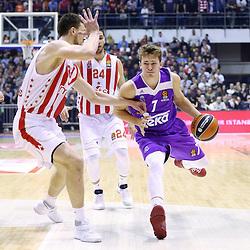 20170208: SRB, Basketball - Slovenian basketball player Luka Doncic, Jaka Blazic and Zoran Dragic