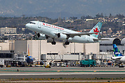 An Air Canada A320 takes off fromLos Angeles International Airport (LAX) on Friday, February 28, 2020 in Los Angeles. (Brandon Sloter/Image of Sport)