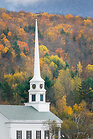 Church in the town of Stowe vermont USA