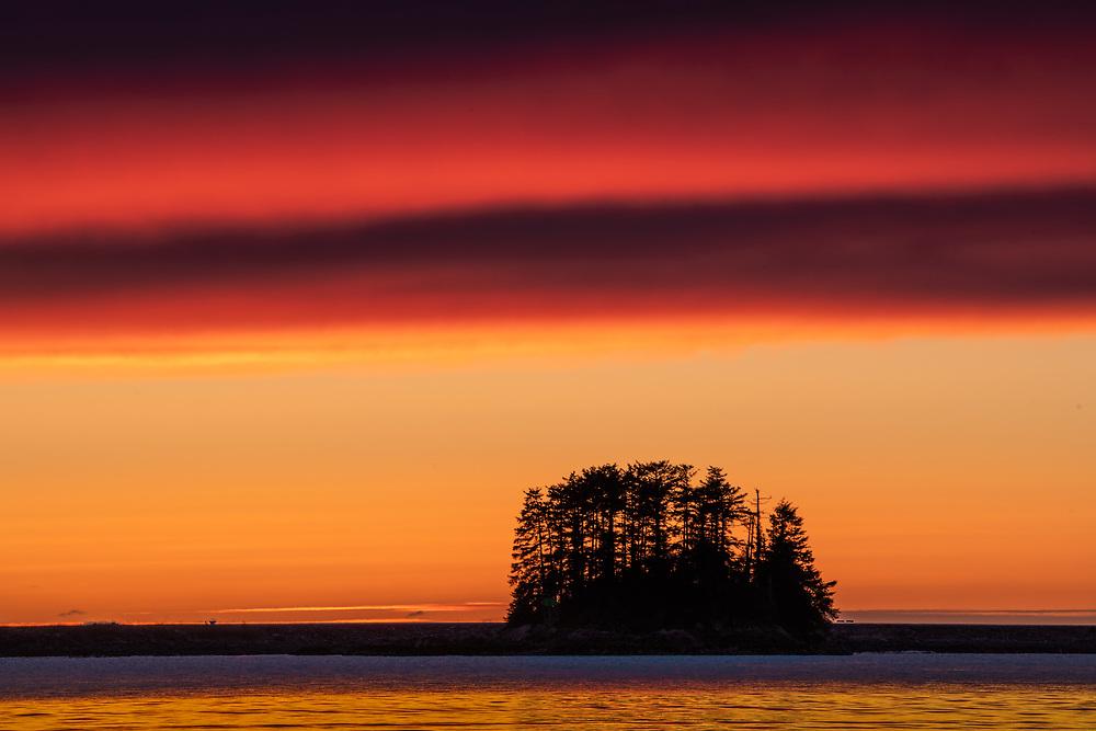 sunset from totem park Sitka