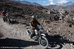 Bear Haughton riding back to Muktinath from the Buddhist temple above the town on day-6 of our Himalayan Heroes adventure riding from Muktinath to Tatopani, Nepal. Sunday, November 11, 2018. Photography ©2018 Michael Lichter.