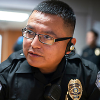 Gallup Police Officer Patrick Largo recieves a Life Saving Award and a Citation for Commendation, Tuesday, August 28, 2018 at the Gallup Police Department for helping a suicidal person.