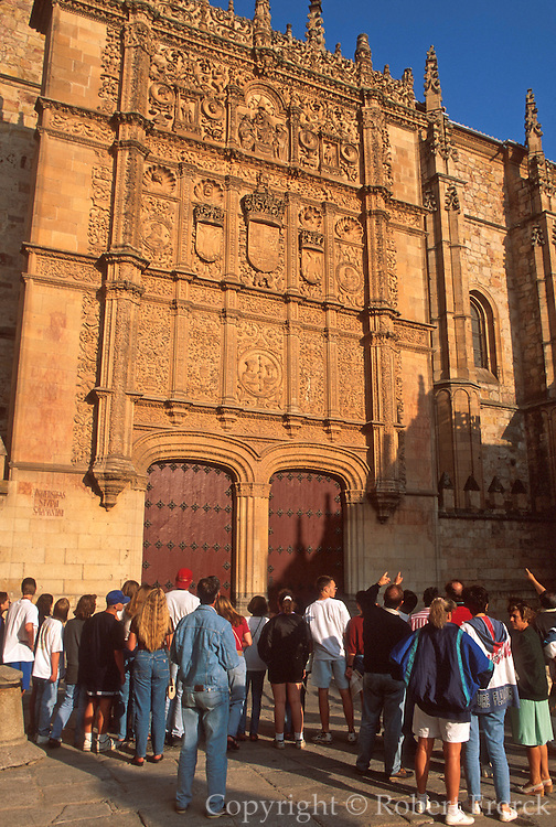 SPAIN, CASTILE, SALAMANCA University, 'Plateresque' facade