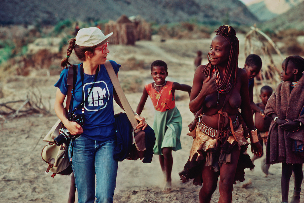 Annie Griffiths on assignment in Africa.