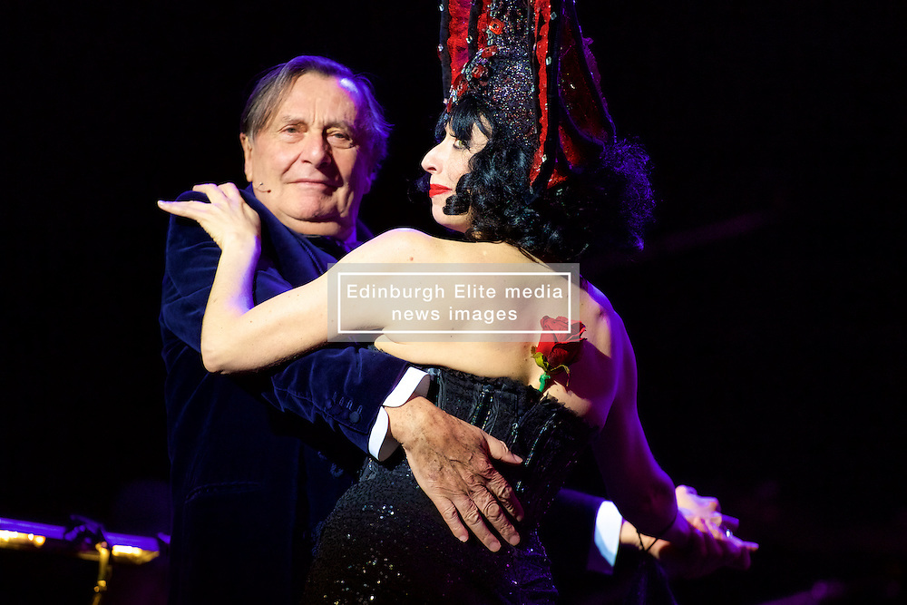 Australia's greatest cultural export Barry Humphries curates, presents and performs an evening of so-called 'degenerate' music from Germany's Weimar Republic, joined by transgressive cabaret sensation Meow Meow and the gutsy players of the Australian Chamber Orchestra, under charismatic Director Richard Tognetti. The Usher Hall, Edinburgh, 8th August 2016(c) Brian Anderson   Edinburgh Elite media