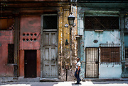 Dilapidated decor, Old Havana, Cuba