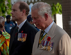 The Prince of Wales and Earl of Wessex visit Commonwealth War Graves in Accra, Ghana, on day three of the royal couple's trip to west Africa.