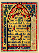 Illustrated prayer to The Lord Thy God from the Doré family Bible containing the Old and New Testaments, The Apocrypha Embellished with Fine Full-Page Engravings, Illustrations and the Dore Bible Gallery. Published in Philadelphia by William T. Amies in 1883