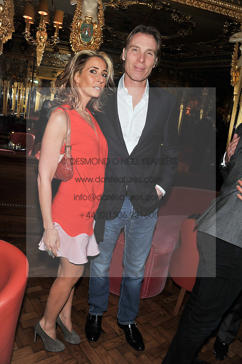 TARA BERNERD and DAMIAN ASPINALL at the 50th birthday party for Patrick Cox held at the Café Royal Hotel, 68 Regent Street, London on 15th March 2013.