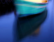 Abstract boat with reflection. graphic design