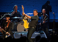 Bruce Springsteen and the E Street Band performs at the Apollo in New York...Photo by Robert Caplin.