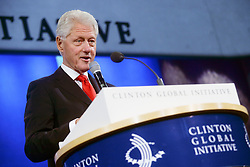 September 21, 2016 - New York, New York, USA - Bill Clinton speaks during the 2016 Clinton Global Initiative Annual Meeting at Sheraton New York Times Square on September 21, 2016 in New York City. (Credit Image: © Future-Image via ZUMA Press)