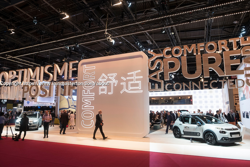 View of Citroen stand at Paris Motor Show 2016