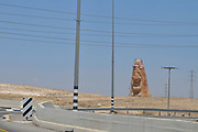 The Negev Guardian, Neot Hovav A monumental statue (a 5 storey high, 450 tons) erected in front of Neot Hovav (AKA Ramat Hovav), a major toxic Hot Spot in the Negev Desert, Israel. By Emilio Mogilner 2005