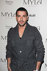 Singer SHAYNE WARD at a party to celebrate the 10th anniversary of the Myla lingerie brand held at Almada, 17 Berkeley Street, London on 17th November 2010.