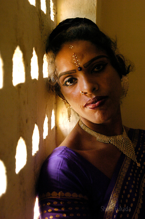 """Transgender sex worker in Villupuram, India. As transgenders,""""hijras"""" in local terms, are acutely marginalized in Indian society, the major earning avenues for them are sex work, begging and performing at rituals."""