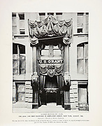 """The Coal and Iron Exchange in Cortlandt Street, New York, August, 1885 from The American Civil War book and Grant album : """"art immortelles"""" : a portfolio of half-tone reproductions from rare and costly photographs designed to perpetuate the memory of General Ulysses S. Grant, depicting scenes and incidents in connection with the Civil War Published  in Boston and New York by W. H. Allen in 1894"""
