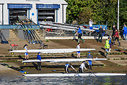 Chiswick, Greater London, UK., 11th October 2020, General View, crews boating, from Cygnet and Barnes Bridge Ladies RC's, Pairs Head of the River Race, Restricted entry and Shortened Course, COVID-19,  Barnes Bridge and Dukes Meadows location, [Mandatory Credit: Peter Spurrier/Intersport Images]