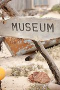 Museum sign, Skeleton Coast Museum, Skeleton Coast, Northern Namibia, Southern Africa