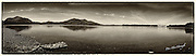 An old style sepia toned panorama view of Lough Lein Killarney with Torc Mountain on left and The Lake Hotel on right.<br /> Picture by Don MacMonagle