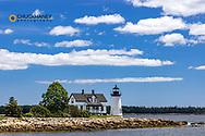 Lighthouse in Prospect Harbor, Maine, USA