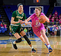 Middle Tennessee Blue Raiders guard Alexis Whittington (23) during the UAB Blazers at Middle Tennessee Blue Raiders college basketball game in Murfreesboro, Tennessee, Thursday, February, 20, 2020.<br /> Photo: Harrison McClary/All Tenn Sports