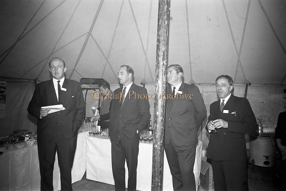 10/10/1966<br /> 10/10/1966<br /> 10 October 1966<br /> Opening of new Roma Foods Products Ltd. factory at Finglas, Dublin. Picture shows Managing Director Mr. Patrick Meade (left) speaking at the opening. Also in the image (l-r): Mr. George Colley, Minister for Industry and Commerce; Mr. Felim Meade, Director of Roma and Mr. Antonio Nico, Director.