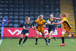 Abi Kershaw of Worcester Warriors Women breaks down the right wing - Mandatory by-line: Nick Browning/JMP - 24/10/2020 - RUGBY - Sixways Stadium - Worcester, England - Worcester Warriors Women v Wasps FC Ladies - Allianz Premier 15s