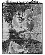 Solaroid - Self Portrait 2 - This is a solarised polaroid photo art print by Paul E Williams who invented the technique and is the only photographer to have used it. The process is sadly no longer possible. Taken in 1991 .<br /> <br /> Visit our FINE ART PHOTO  PRINT COLLECTIONS for more wall art photos to browse https://funkystock.photoshelter.com/gallery-collection/Fine-Art-Photo-Prints-by-Photographer-Paul-Williams/C0000UM829OLMVv8 .