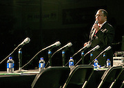 """Dr, Ben Chavis Muhmmad at the Hip-Hop Summit's """"Get Your Money Right"""" Financial Empowerment International Tour draws hip-hop stars and financial experts to teach young people about financial literacy held at The Johnson C. Smith University's Brayboy Gymnasium on April 26, 2008..For the past three years, hip-hop stars have come out around the country to give back to their communities. Sharing personal stories about the mistakes they've made with their own finances along the way, and emphasizing the difference between the bling fantasy of videos and the realities of life, has helped young people learn the importance of financial responsibility while they're still young. With the recent housing market crash in the United States affecting the economy, jobs, student loans and consumer confidence, young people are eager to receive sound financial advice on how to best manage their money and navigate through this volatile economic environment.."""